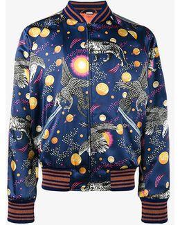 Silk Space Print Souvenir Jacket