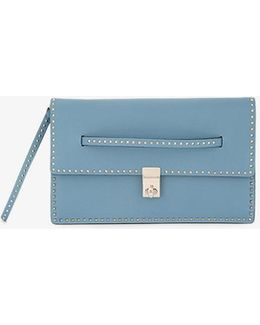 Micro Stud Stitching Clutch Bag