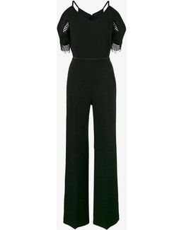 Black Cold Shoulder Jumpsuit