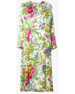 Slide Floral Print Dress