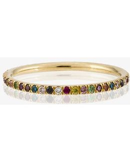 Rainbow Diamond Band Ring