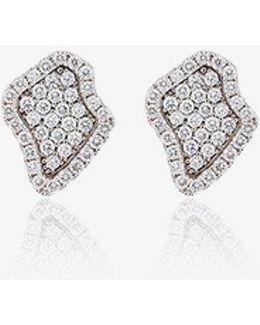 Diamond Encrusted Stud Earrings