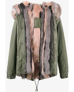 Fox Fur Lined Mini Parka Coat