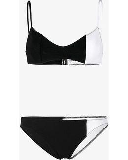 Color Block Bikini Top