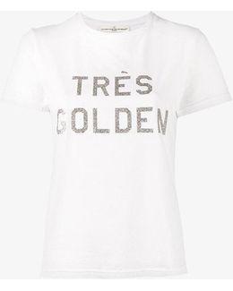 Glitter Word Printed T-shirt