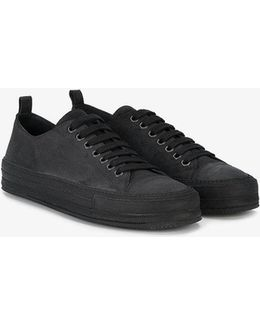 Waxed Suede Sneakers