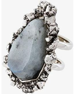 Stone Double Tiered Ring
