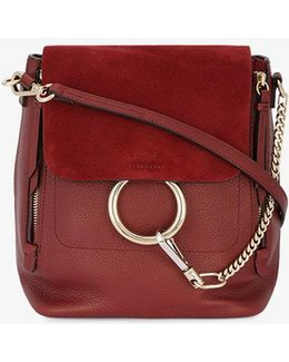 Red Leather Faye Backpack