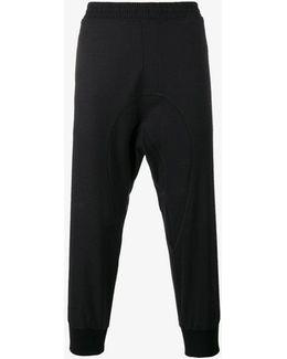 Drop-crotch Track Pants
