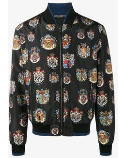 Insignia Print Bomber Jacket
