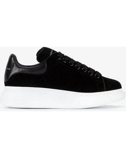 Oversized Velvet Sneakers