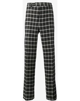 Monochrome Check Trousers