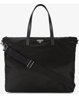 Leather Handle Tote Bag