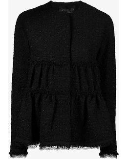 Ruched Tweed Jacket