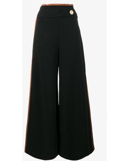 High Waisted Culottes With Side Band