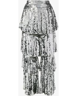 Sequin Embellished Tiered Culottes