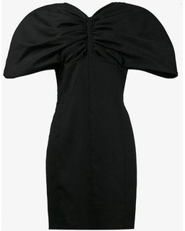 Gathered Exaggerated Sleeve Mini Dress