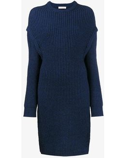 Oversized Slit Side Knitted Jumper