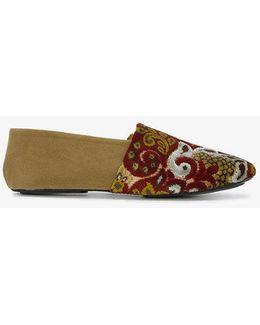 Jacks Flocked Slip-on Loafers