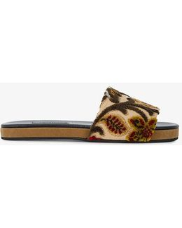 Flat Frankie Sliders With Tapestry Pattern