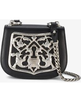 Piastra Metal Filigree Cross-body Bag