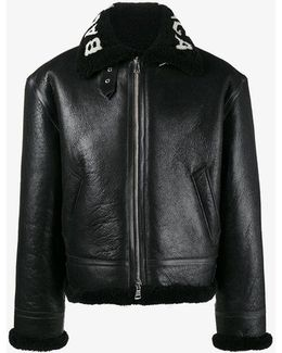 Bombardier Shearling Leather Jacket