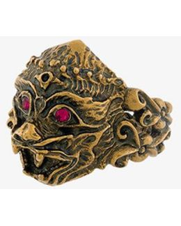 Monkey Head Ring