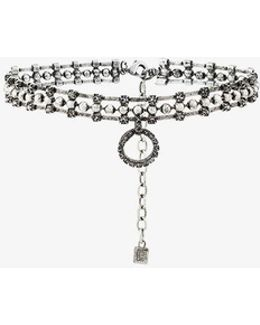 Vixie Choker With Crystal Circle Pendant