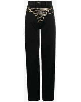 Mid-rise Jeans With Chain Front