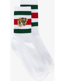 - Tiger Patch Socks - Men - Cotton/polyamide/spandex/elastane - M