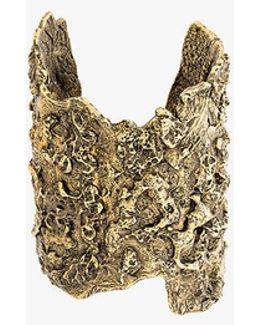 Molten Brass Cuff Bracelet