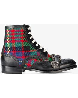 Queercore Check Brogue Boots
