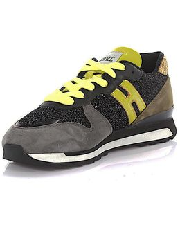 Running R261 Yellow Patent Leather, Lurex And High-tech Fabric Women's Sneaker