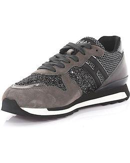 Sneaker Running R261 Suede Glitter Grey