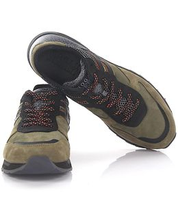 Sneakers Running R261 Suede Green