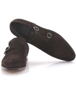 Doubel-monk 13164 Suede Brown Lyra Perforations Goodyear