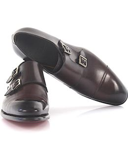 Double-monk-strap 11652 Leather Brown Goodyear Welted
