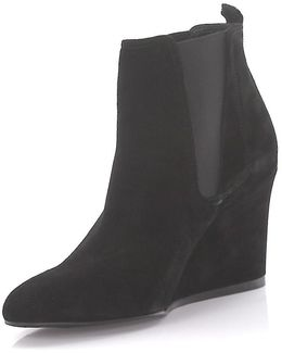 Wedge Boots Cspi2w Suede Black