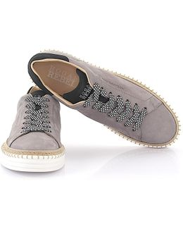 Sneaker Low R260 Nubuck Leather Grey Black Bast