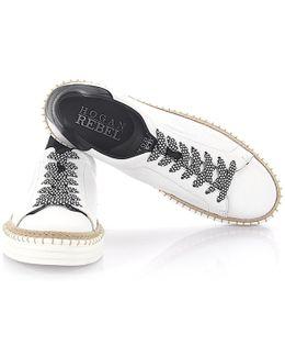 Rebel Sneaker R260 Leather White Black Bast
