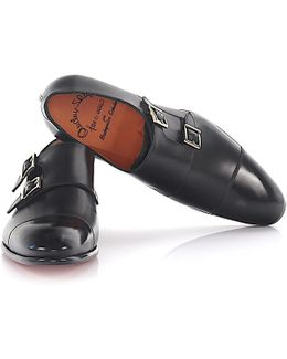 Double-monk-strap 15006 Leather Black Welted