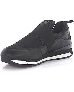 Sneaker R261 Slip On Leather Fabric Black Glitter