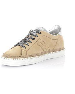 Rebel Sneaker R260 Nubuck Leather Beige Leather Silver Bast