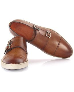 Sneaker Double-monk-strap 15021 Leather Brown