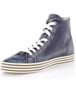 Sneakers High R141 Leather Blue