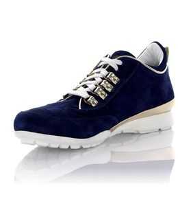 Sneakers Suede Patent Leather Blue