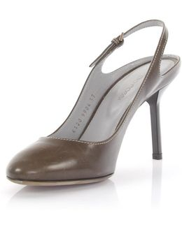Slingpumps Leather Brown