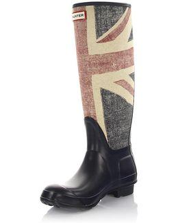Boots Gum Blue Red Beige