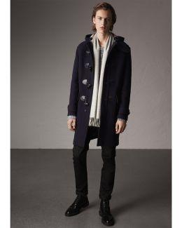 Wool-blend Duffle Coat Navy