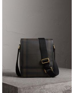 London Check Crossbody Bag Chocolate/black